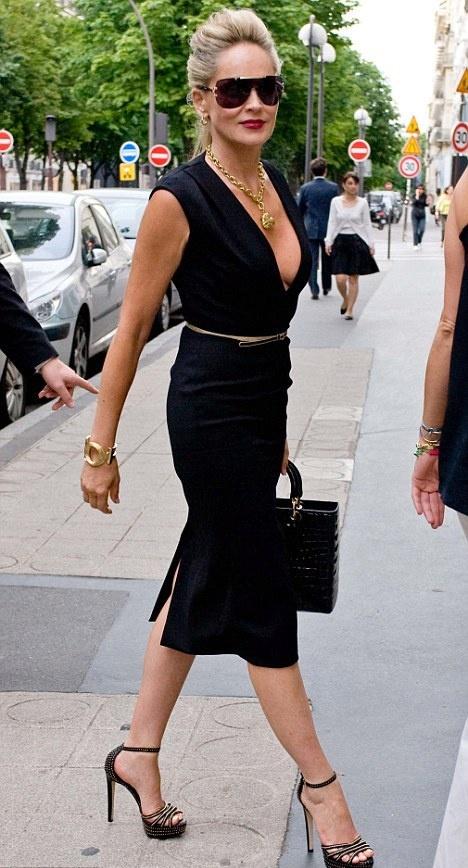 Sharon Stone, looking good at 55.