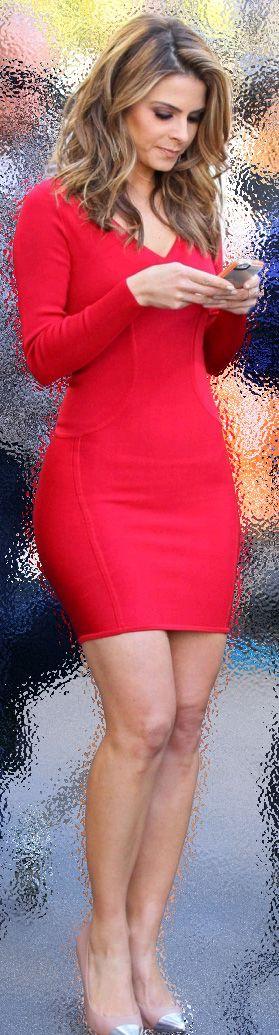 Maria Menounos...hot red dress ! !  HotWomensClothes.com