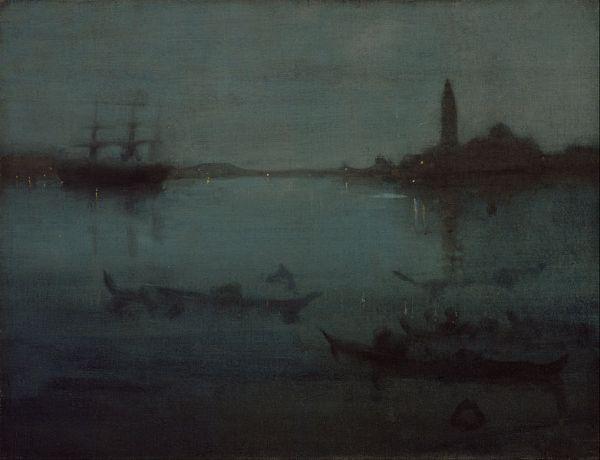 James Abbott McNeill Whistler, Notturno in blu e argento, La laguna di Venezia