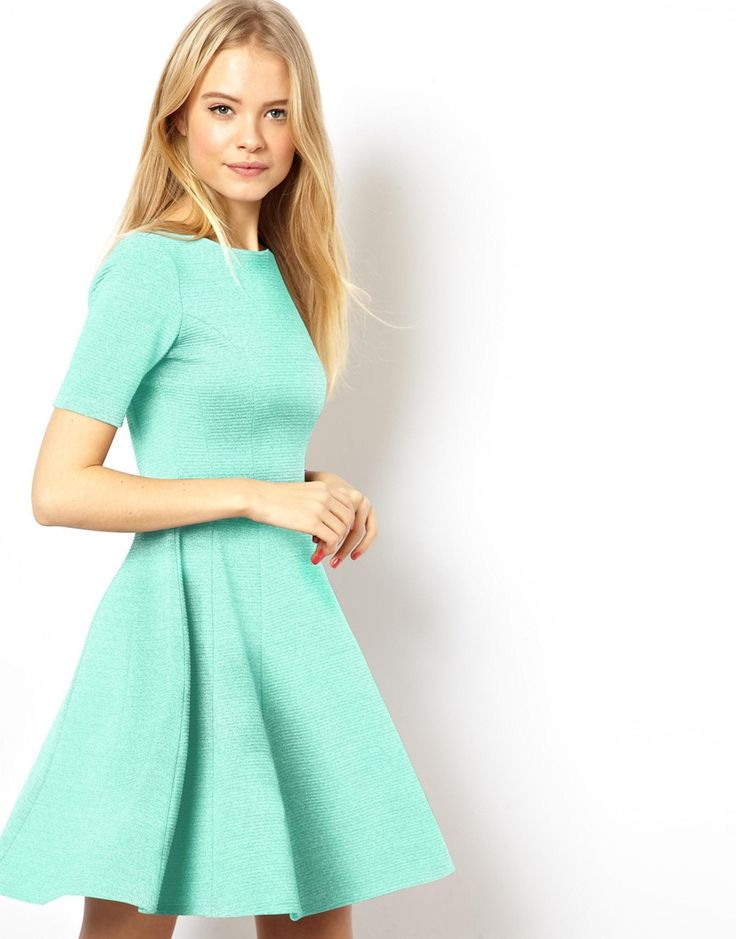 ASOS Structured Skater Dress In Heavy Rib http://asos.to/1oxM231