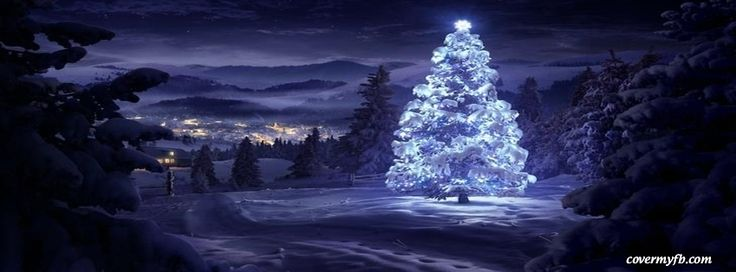 White Christmas Facebook Covers