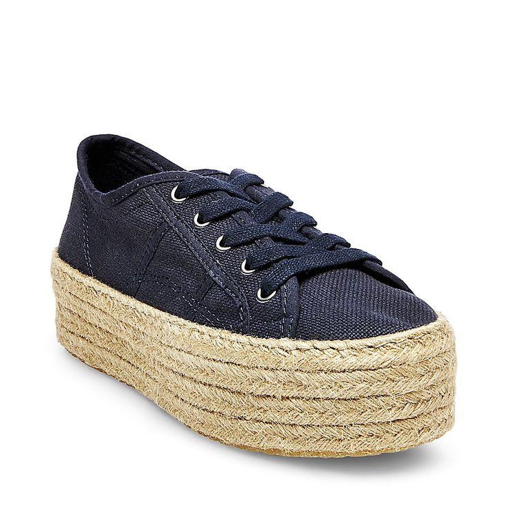 Steve Madden Women's Hampton Fashion Sneaker, Navy, 9 M US