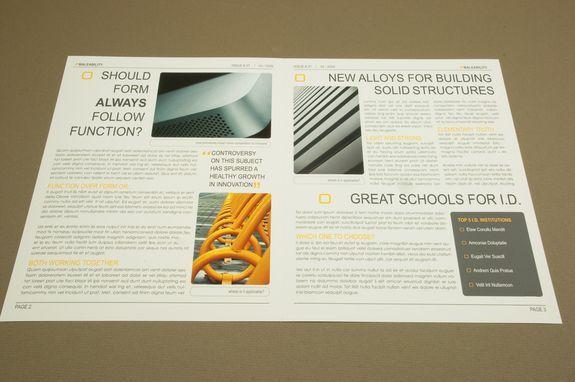 Modern newsletter template modern industrial design for Modern newsletter design