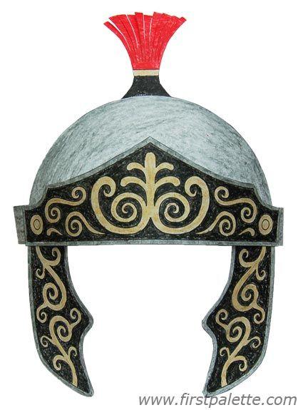 Silver Roman Imperial helmet craft