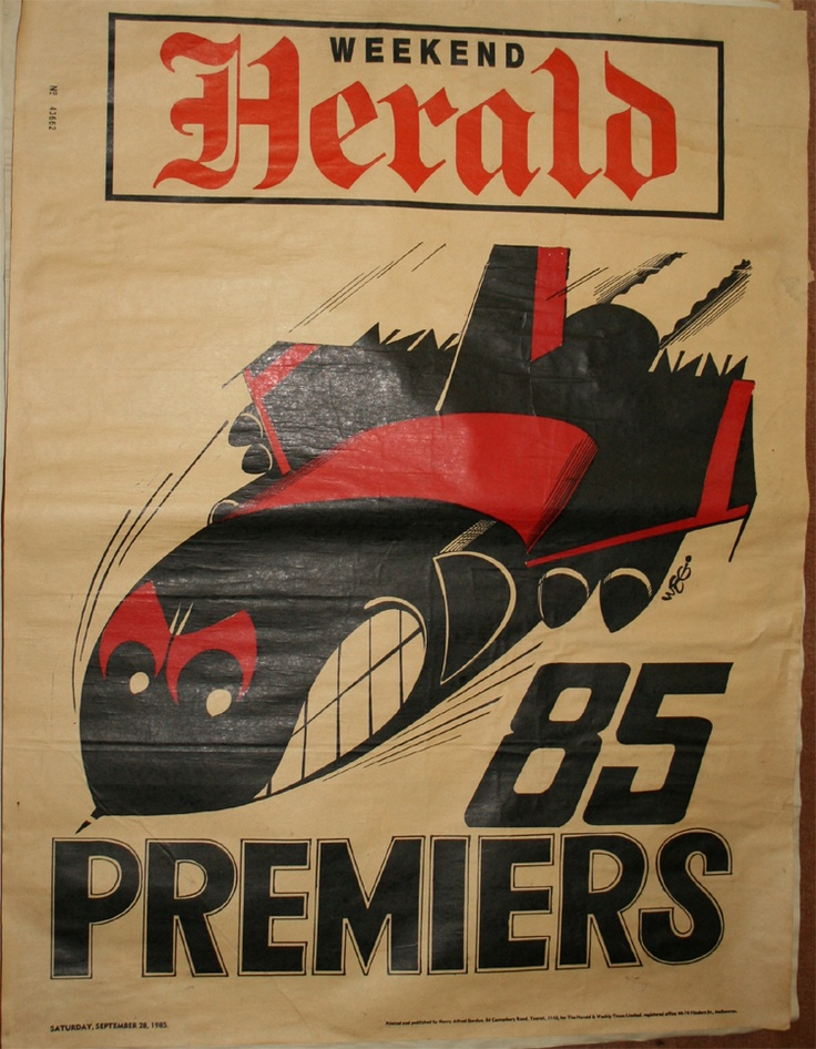 Weg Premiers Poster 1985 Essendon Bombers