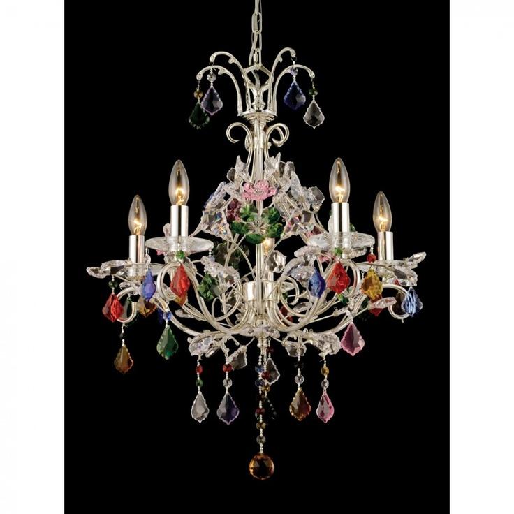Dale Tiffany Ceiling Lights 5 Light Yolanda Crystal Chandelier - GH80252