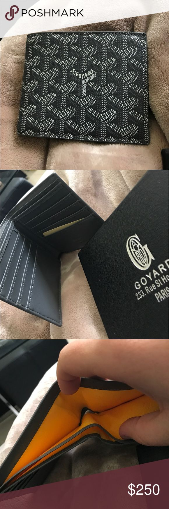 UA GOYARD MENS WALLET IN GREY Replica Goyard wallet in grey. Comes with goyard dust bag, box and tag. Bags Wallets