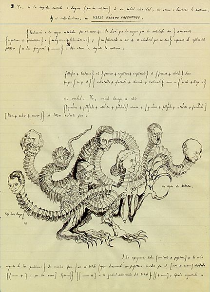"Borges from the ""Viejo habito argentino"" manuscript, from Otras inquisiciones"