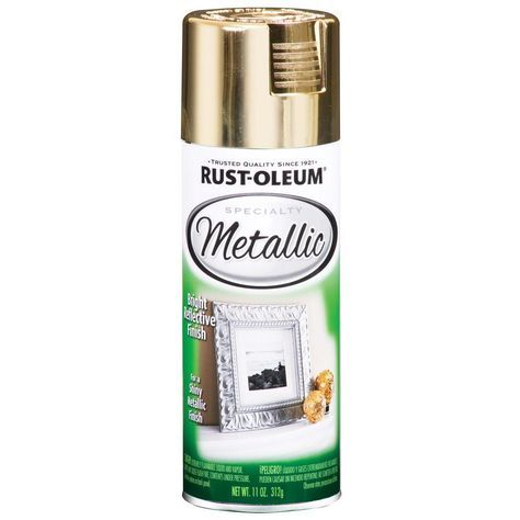Rust-Oleum Specialty 11 oz. Metallic Gold Spray Paint (6-Pack), Bright Reflective Finish