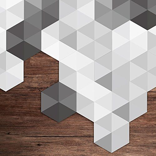 Alwayspon 10 Pcs Hexagon Non Slip Floor Sticker Vinyl Wall Paper Decals For Living Room Kitchen Bathroom Peel An In 2020 Non Slip Flooring Decal Paper Floor Stickers
