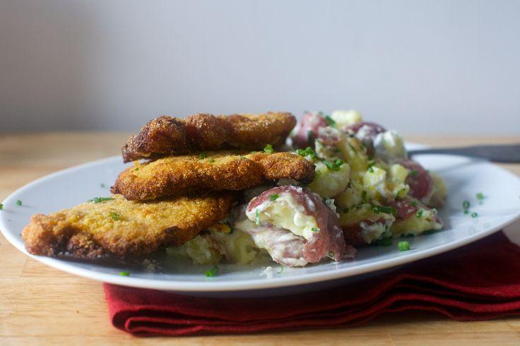 cornmeal-fried pork chops + smashed potatoes | smitten kitchen