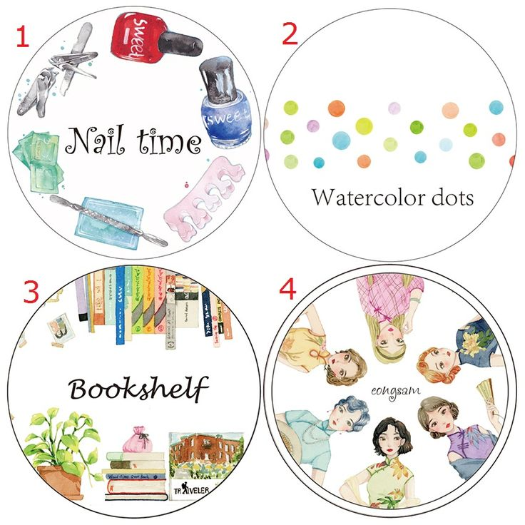 Bookshelf Nail Polish Cheongsam Girl Washi Paper Tape Office Adhesive Tape Planner Washitape Kawaii School Supplies #Affiliate