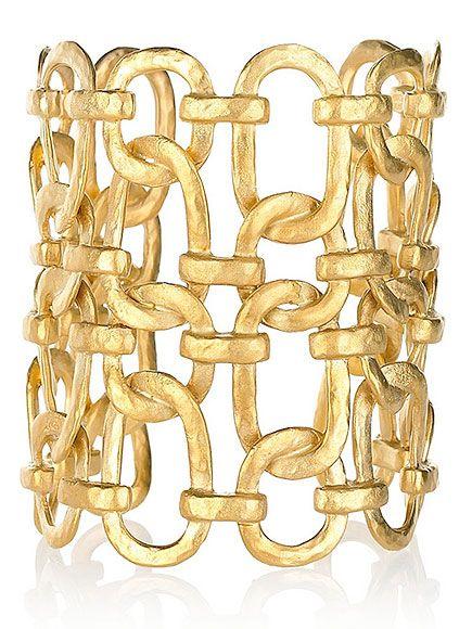 Kenneth Jay Lane cuff, $140 at net-a-porter.com: Kenneth Jay Lane, Cuffs Bracelets, Link Chains, Chains Bracelets, Chains Cuffnetaportercom, Gold Cuffs, Chains Cuffs, Gold Plat Link, Chains Link