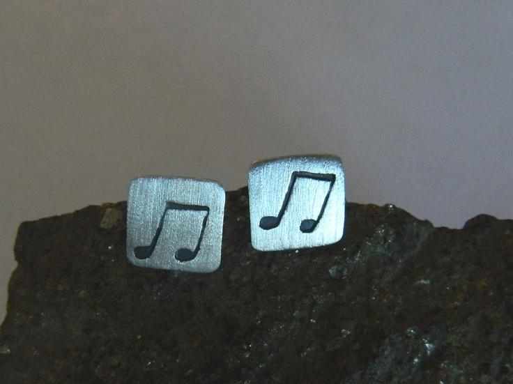 Aros de plata ..notas musicales