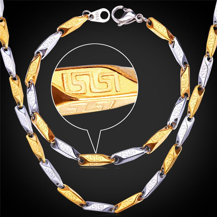 Cheap Jewelry Sets, Buy Directly from China Suppliers:                         2-Tone Bracelet Necklace Sets Unique Chains Stainless Steel 18K Gold Plated Trendy 4MM Vi