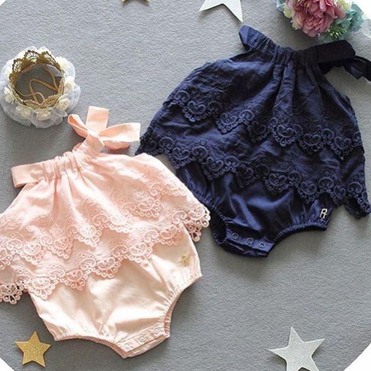 Macacão de Bebê Das Meninas do miúdo do Verão Sólida Rendas Tiras Jumpsuit Playsuit Floral Sem Mangas Traje Do Bebê Roupas Casuais em Macacão/Body de Mãe & Kids no AliExpress.com | Alibaba Group
