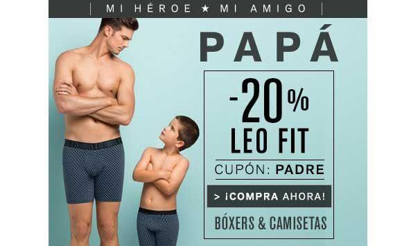 Oferta Dia del Padre: Boxers y Camisetas