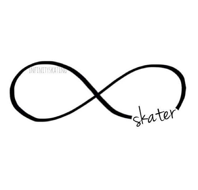 Skater infinity sign. I may just get this as a tattoo.