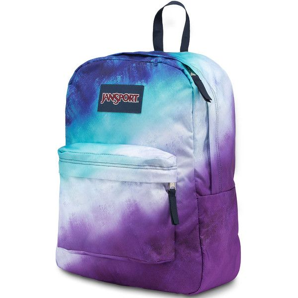 JanSport High Stakes Backpack ($40) ❤ liked on Polyvore featuring bags, backpacks, jansport, day pack backpack, polyester backpack, padded backpack and blue backpack
