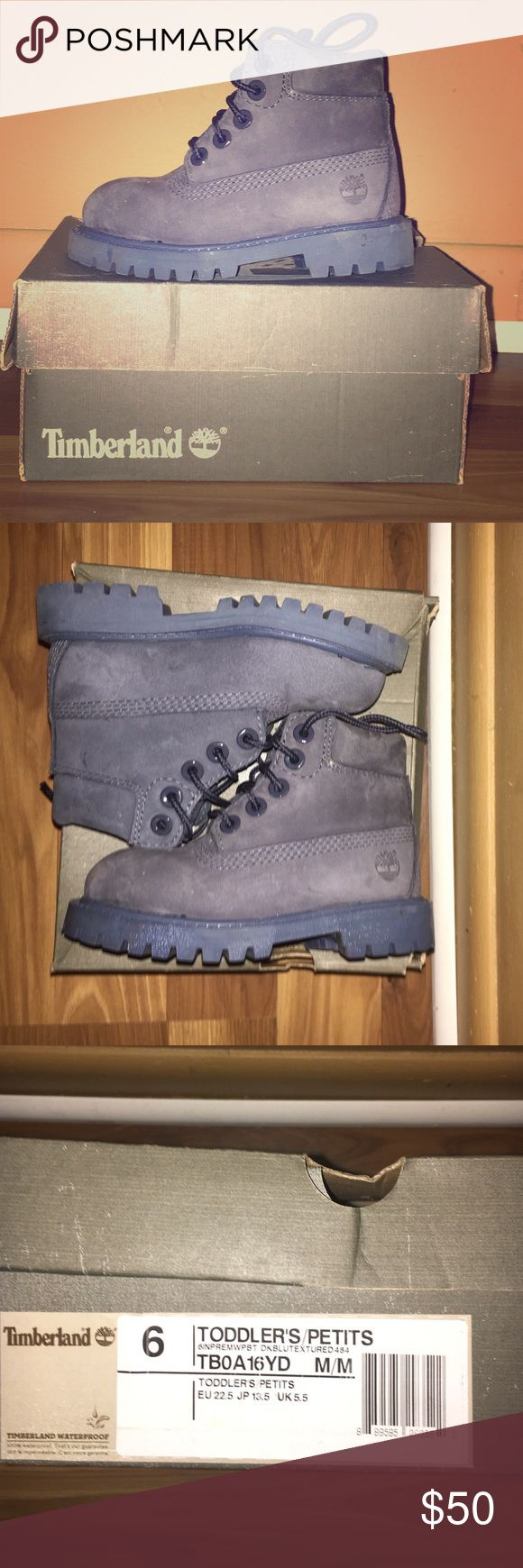 Timberland Boots Gray color timberland waterproof boots. Perfect for your little one during these winter months. Size is 6 toddlers Timberland Shoes Boots