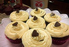 Method Preheat oven to 180°C.350°F/Gas 4. Line a twelve cupcake tin with paper cases. Cream butter and sugar together until light and creamy. Add the egg and beat well. Next put the cocoa, vanilla and colouring into the mixture and…