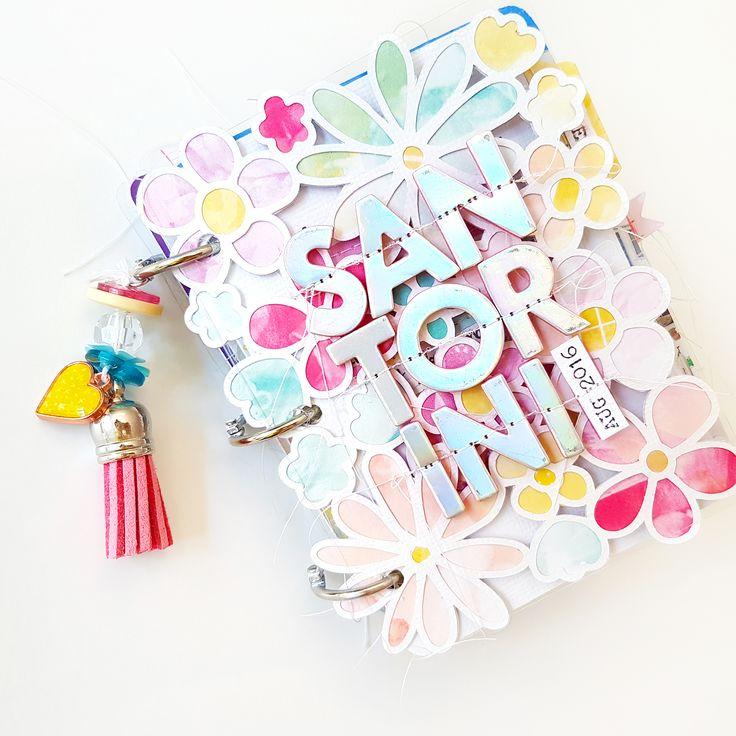 Santorini Mini Album | @paigeevans @pinkpaislee #scrapbooking
