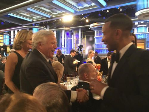 Robert Kraft heads to Hollywood, attends Golden Globes | New England Patriots