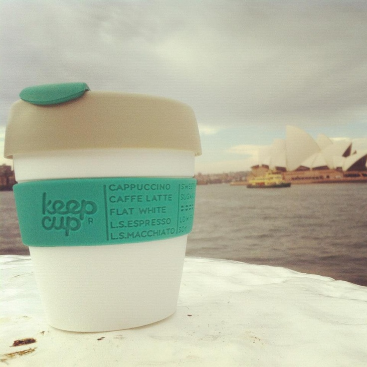 Love the reusable KeepCup from Australia! Use your KeepCup when you buy coffee. Reduces the widespread use of disposable cups. Nice feature: Design your own!! A lot of colors possible.