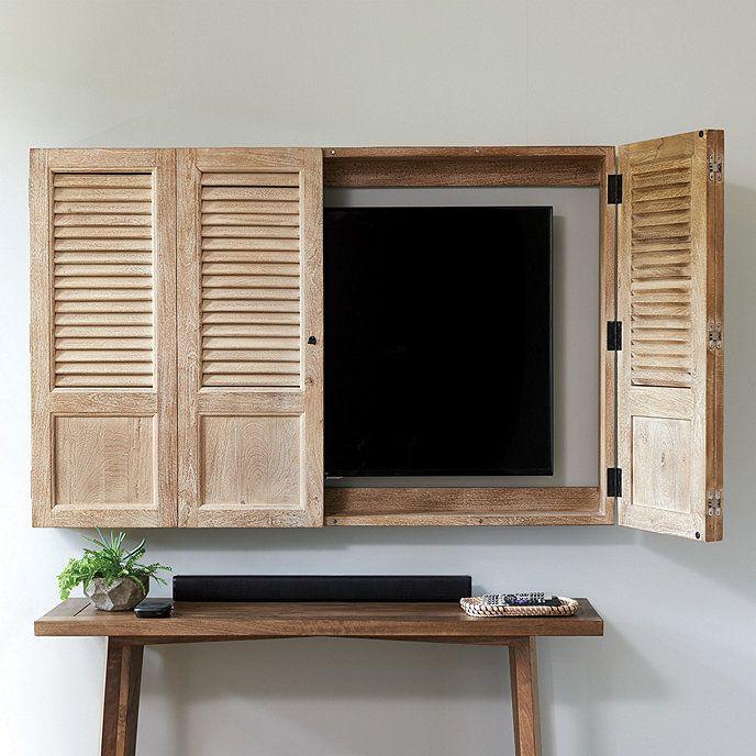 Shutter Tv Wall Cabinet Ballard Designs Tv Wall Cabinets Tv Cabinets With Doors Wall Cabinet