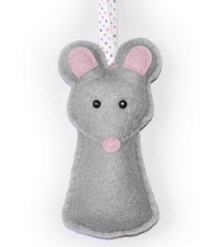 Felt Mouse Ornament