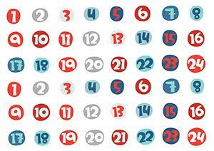 Pikku Kakkosen tulostettavia joulupapereita askarteluun: Numerot. Free printable patterns. lasten | askartelu | joulu | käsityöt | koti | DIY ideas | kid crafts | christmas | home | Pikku Kakkonen