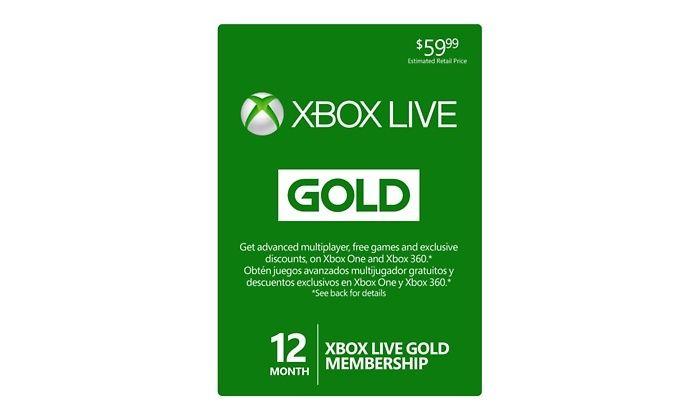 12-Month Xbox Live Gold Membership: 12-Month Xbox Live Gold Membership