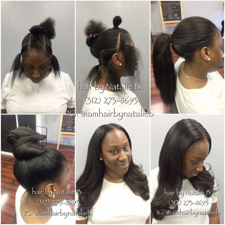 "Versatile ""PERFECT PONY™"" Sew-In Hair Weave by Natalie B.  ****Call or text me at 312-273-8693 to schedule your appointment!  CHECK OUT MORE PHOTOS OF MY WORK IG: @iamhairbynatalieb FB: Hair by Natalie B."