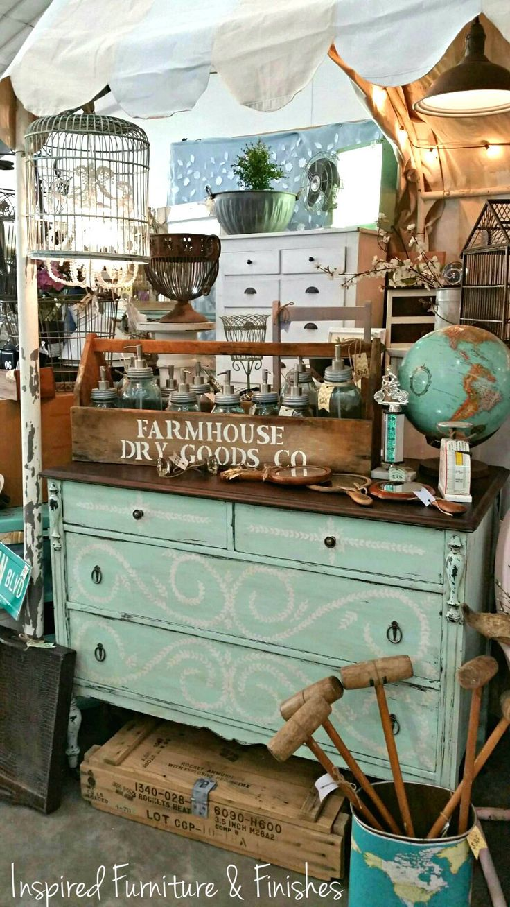 Inspired Furniture & Finishes, display @  The Farm Chicks Antique Show 2015  www.facebook.com/inspiredfurniture
