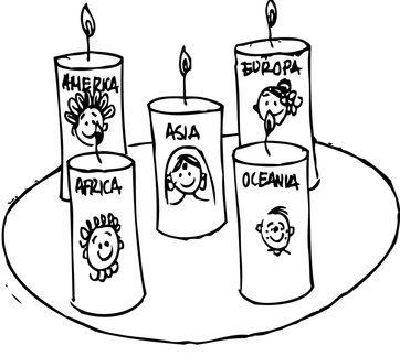 Esta corona misionera puedes utilizarla cada vez que rezes el Rosario Misionero. Recuerda que cada misterio tiene un continente por el que oramos y un color que lo identifica. Enciende la vela correspondiente al continente por el que estén orando en cada misterio del Santo Rosario. www.evangelizacioncatolica.org