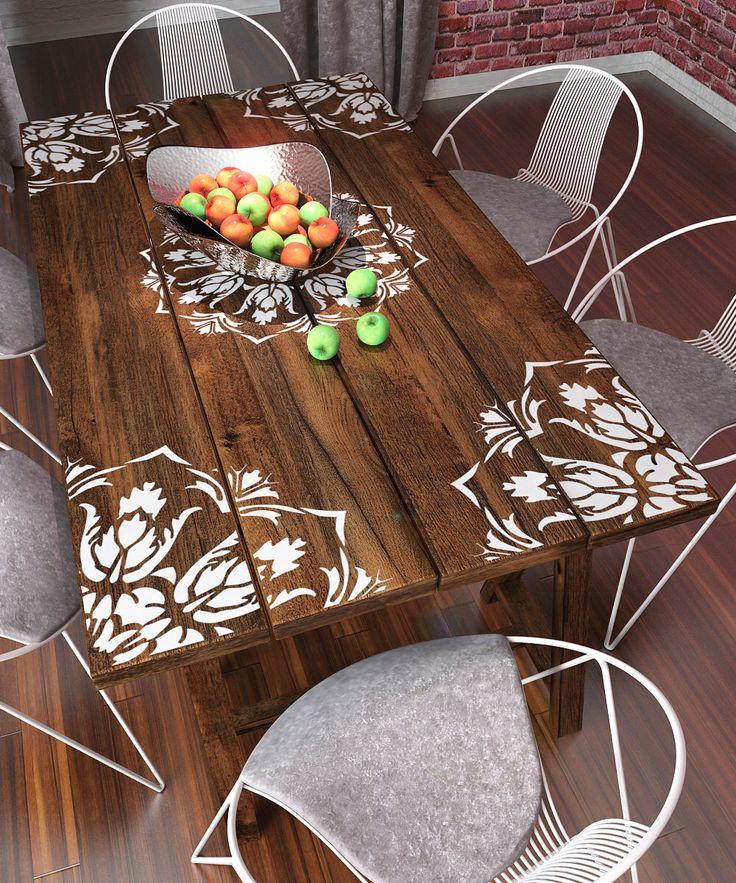 Mandala-Schablone zum Malen - Möbel-Schablone - Wand-Schablone von StencilsLabNY auf Etsy https://www.etsy.com/de/listing/243244905/mandala-schablone-zum-malen-mobel