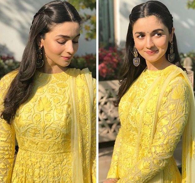 Alia Bhatt in yellow dress