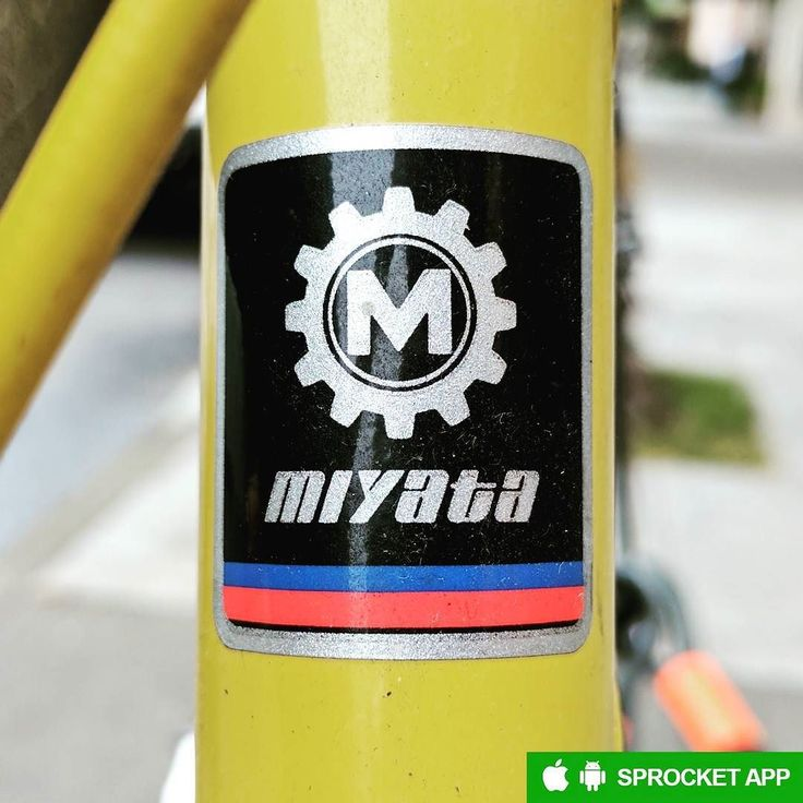 1986 Miyata headbadge. Founded in 1890 as a Japanese firearms manufacturer this highly innovative vintage bicycle brand pioneered in-house triple-butted tubing and still exists as Koga-Miyata.  Like and follow @sprocketblog  Get the Sprocket bike app on GooglePlay and AppStore  #miyata #kogamiyata #headbadge #headbadgemuseum