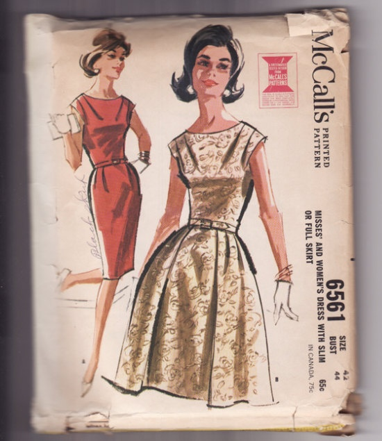 1962 dress   Shoulder and waist pleats are interestingSewing Pattern, 1960S Fashion, 60S Sewing