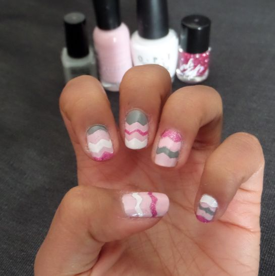 Easter Chevron Nails