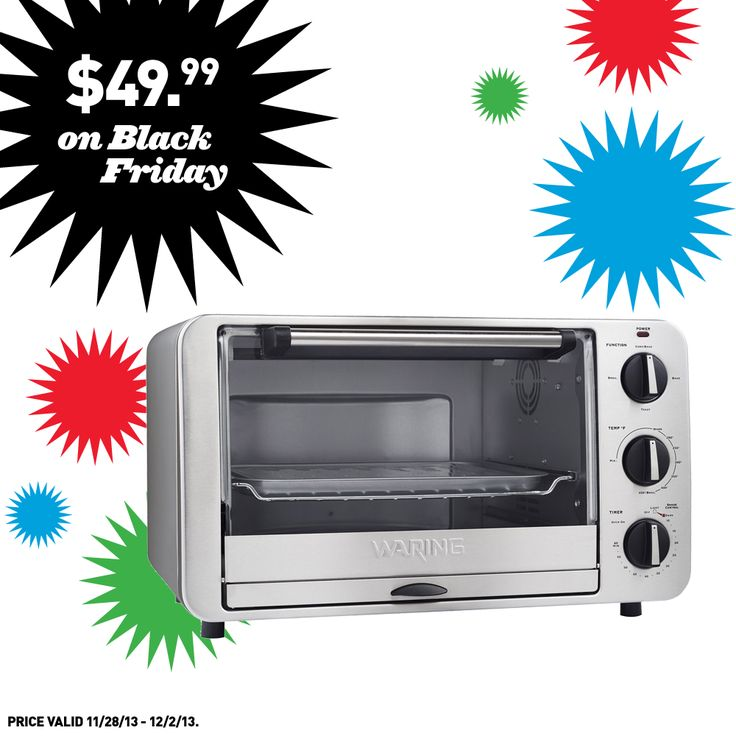 Get this convection toaster oven and other great deals at Lowe's on Black Friday!
