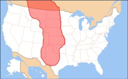 Great Plains: The Great Plains are a broad expanse of flat land, much of it covered in prairie, steppe and grassland, which lies west of the Mississippi River and east of the Rocky Mountains in the United States and Canada. This area covers parts of the U.S. states of Colorado, Kansas, Montana, Nebraska, New Mexico, North Dakota, Oklahoma, South Dakota, Texas, and Wyoming, and the Canadian provinces of Alberta, Manitoba and Saskatchewan.