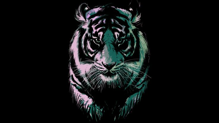 black tiger is a T Shirt designed by artofkaan to illustrate your life and is available at Design By Humans