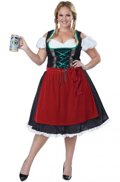 Oktoberfest Fraulein Plus Size Costume #oktoberfest #Halloween #costumes #beermaiden