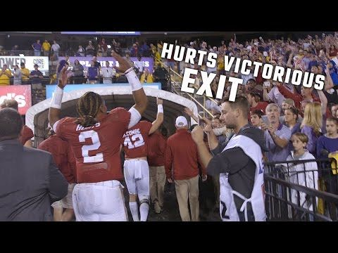 Jalen Hurts ran out of Tiger Stadium a hero after he helped the Crimson Tide beat LSU 10-0. He then stopped to congratulate Nick Saban on his 200th victory as a head coach....
