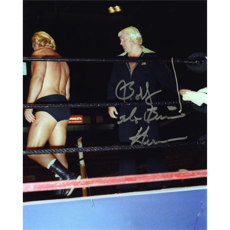 """Bobby Heenan Fanatics Authentic Autographed 8"""" x 10"""" In the Ring Photograph with The Brain Inscription - $19.99"""