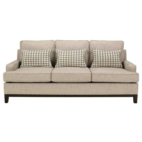 Ashley Furniture Metairie: Couch With Tan Houndstooth