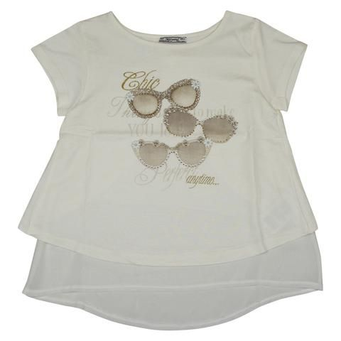 Mayoral Girls Glasses Shirt - Young Timers Boutique  - 1