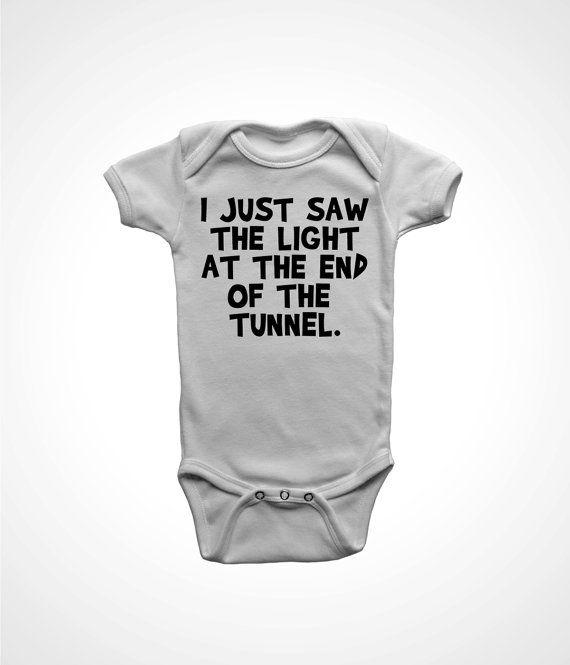 funny one piece baby boys romper newborn girls by FunhouseTshirts
