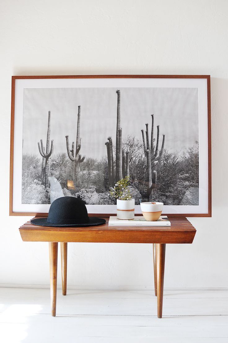 This black and white desert print